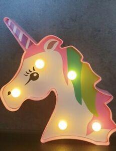 Einhorn Nachtlampe LED 3D Kinderzimmer Dekoration Kinder Tischlampe rosa pink