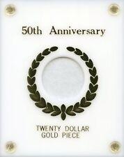 Capital Plastics 50th. Anniversary $20.00 Gold - White