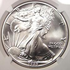 1989 American Silver Eagle Dollar $1 ASE - NGC MS70 - Top Grade - $2,300 Value!