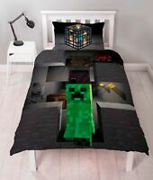 MINECRAFT CREEPER SINGLE DUVET COVER SET NEW & OFFICIAL 2 IN 1 DESIGN KIDS GAME