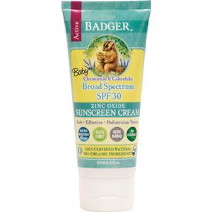 Badger Baby Sunscreen Cream SPF30  87ml tube UVA/UVB