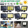 120 LED Solar Power PIR Motion Sensor Outdoor Garden Light Security Flood Lamps