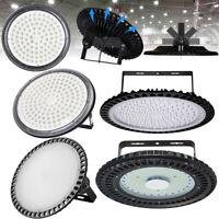50W-500W LED Hallenleuchte UFO Highbay Industrielampe Hallenbeleuchtung Fluter