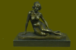 Collectible  Art Deco Sculpture Nude Woman Female Body Bronze Statue Figurine