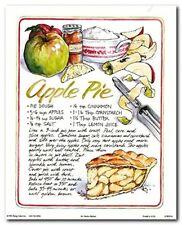 Homemade Apple Pie Recipe Kitchen Wall Decor Art Print Poster (8x10)