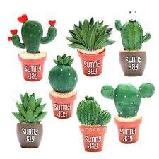 Plants Cactus Flower Removable Fridge Magnet Sticker Home Kitchen Decor