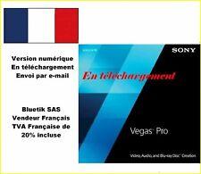 ***Envoi par mail*** - Sony Vegas PRO 13 - multilangues (ang, fr, all, jap)