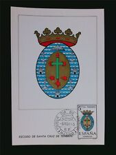 Spain Mk 1965 escudo Tenerife emblema Blazon maximum mapa maximum card mc c5960