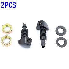 2Pcs Universal Car Auto Front Windscreen Washer Jet Water Spray Nozzle Universal