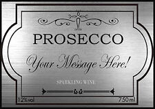A6 Personalised Prosecco Label Cake Topper ICING
