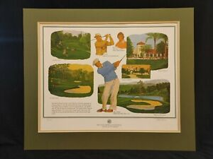 1984 Castlewood Invitational Silver Anniversary Lithograph Signed Nick Leaskou
