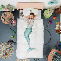 Snurk Mermaid Single Duvet Cover & Pillowcase 160 Thread Count 100% Cotton