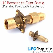 UK Bayonet LPG Filler to Calor Bottle Adapter SET(POL nut with non-return valve)