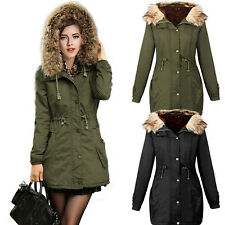 Damen Winter Parkas Jacken Kapuzen Steppjacke Warm Mantel Winterjacke Trenchcoat