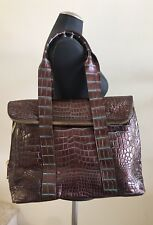 Custom Made Genuine Crocodile Shoulder Bag Handbag Two-Tone Copper, Medium Size