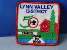 BOY SCOUTS  LYNN VALLEY DISTRICT 50 YEARS 1948 - 88 PATCH VINTAGE COLLECTOR