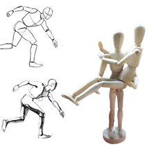 Wooden Wood Human Figure 8 Inch Unisex Manikin Mannequin Drawing Model