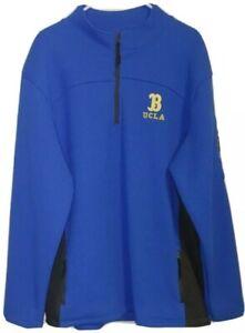 Mens Sz 2XL UCLA Bruins Blue 1/4 Zip Performance Colosseum Sweater