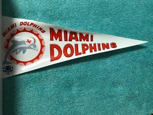 """1966 AFL VINYL PENNANT MIAMI DOLPHINS 12 1/2"""" x 5"""""""