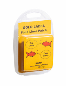 Gold Label Pond Liner Butyl Rubber Repair Patch Small 140mm x 190mm