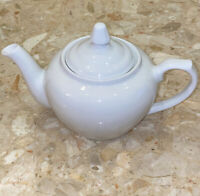 Vintage Porcelana Veracruz White Ceramic Porcelain Tea Pot Simple Elegant