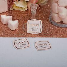 GEO BLUSH Wedding Favour One Free Drink Token Pack of 25 Modern