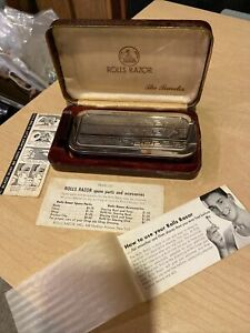 ROLLS RAZOR THE TRAVELER, extra blade, original case, instruction book