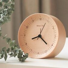 Wooden Digital Alarm Clock Concave Design Digital Home Decoration