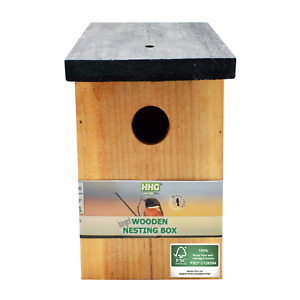 Quality Fully Treated Bird Nest Box House Home Hotel - 100% FSC Wood - Deals