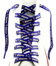 "MINNESOTA VIKINGS TEAM SHOE LACES 54"" *LACEUPS* GAME DAY PARTY NFL FOOTBALL"