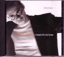 MARC ANTHONY I Need to Know MIXS PROMO CD Track masters