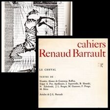 REVUE CAHIERS RENAUD BARRAULT 92 LE CHEVAL TEXTES : HOMERE A. POE APOLLINAIRE...
