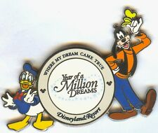 DLR Where My Dream Came True Year of A Million Dreams Donald and Goofy Pin!