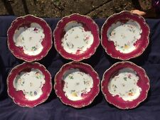 Mid 19th Century Staffordshire porcelain 6 plates possible Ridgway no 4129