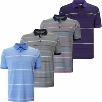 CALLAWAY GOLF MENS OPTI-DRI 3 COLOUR STRIPE GOLF POLO SHIRT