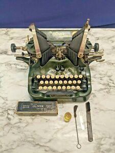 Oliver No 9 Standard Visible Writer Manual Typewriter May 8 1917 Antique Green