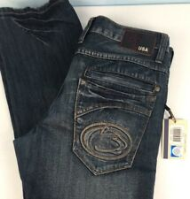 PENN STATE PSU Jeans 34 X32 Slim Zip Fly Nittany Lions Logo Distressed MSRP 79