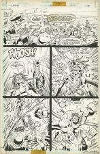 Lobo 18 PAGE ART Django Battle Val Semeiks Original 1995 Killa Rasta Gangsters