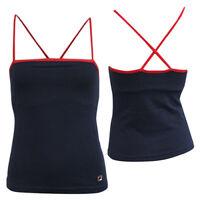 Fila Sports Gym Navy Blue Spaghetti Strap Womens Vest Tank Top U88601 410 M19