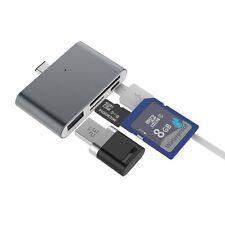 Grigio USB tipo-C HUB PER MACBOOK con microSD/SD Card Reader USB tipo A DONNA