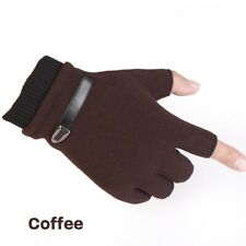 Men/Women Fingerless Gloves Fleece Lined Winter Warm Thermal For Working Driving