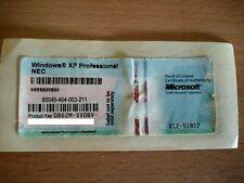 STICKER LICENCE XP PRO / XP HOME / XP MEDIA CENTER