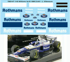 1/43 WILLIAMS RENAULT FW18 1996 DECALS TB DECAL TBD147
