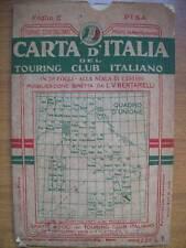 CARTA ITALIA DEL TOURING CLUB ITALIA FOGLIO 17 PISA  (O22)