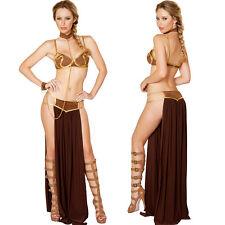 Sexy Star Wars Princess Leia Slave Qutfit Cosplay Adult Dress Halloween Costume