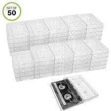 Evelots Cassette Tape Cases-Clear Plastic Storage-Audio-No Scratch/Dirt-Set/50