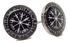 Vegvisir Earrings Viking Heathen Asgard Pair of Unisex Boho Goth Alternative