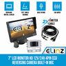 "7"" LCD Monitor HD 12V/24V 4PIN CCD Reversing Camera Rearview Built-in Mic WHITE"