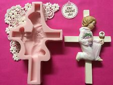 First Communion cross II silicone mold fondant cake decorating soap wax cupcake