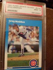 New listing GREG MADDUX 1987 Fleer Glossy Update #U-68  Rookie Card RC PSA 9 Mint HOF BRAVES
